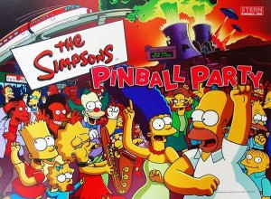 Simpsons Pinball Party translite